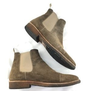 Taft Shoes - Taft Outback Chelsea boots ankle brown suede crepe